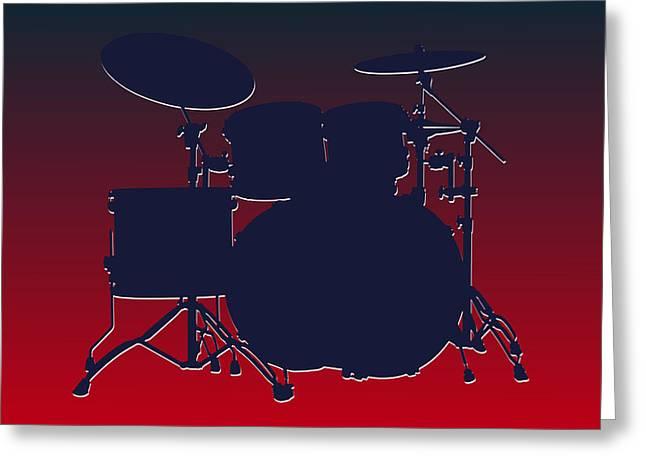 Drum Greeting Cards - Houston Texans Drum Set Greeting Card by Joe Hamilton