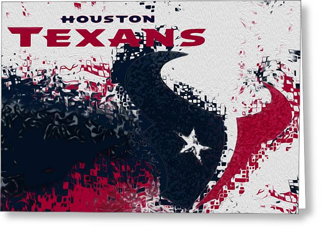 Steer Greeting Cards - Houston Texans Greeting Card by Jack Zulli
