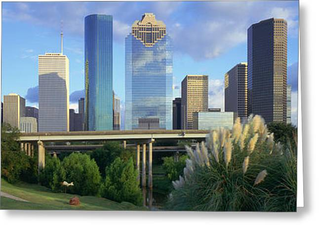 Roadway Greeting Cards - Houston, Texas, Usa Greeting Card by Panoramic Images