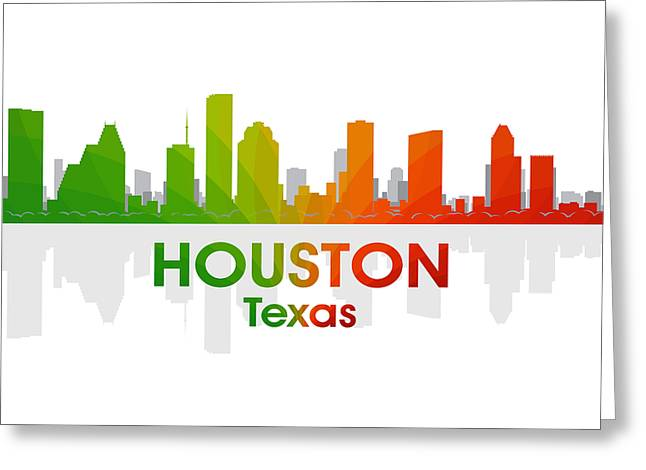 Industrial Icon Greeting Cards - Houston TX Greeting Card by Angelina Vick