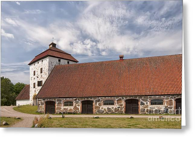Historic Site Greeting Cards - Hovdala Slott Large Stables Greeting Card by Antony McAulay