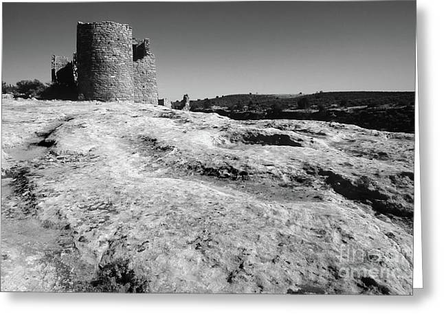 Indian Dwelling Greeting Cards - Hovenweep Ruin Greeting Card by Bob Christopher