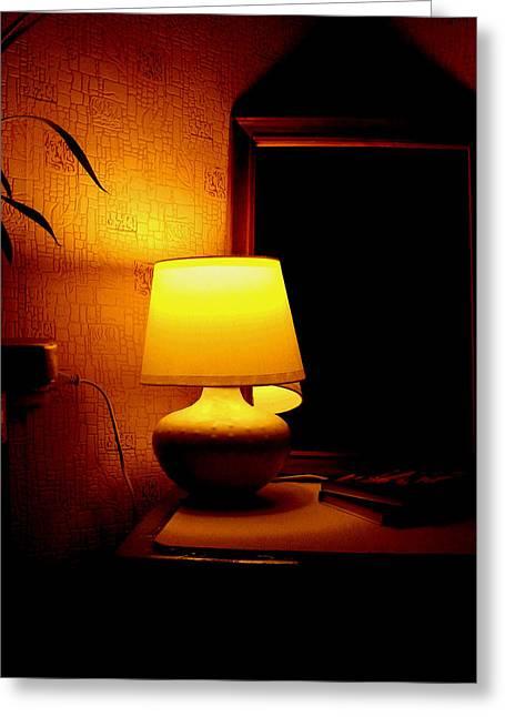 Night Lamp Greeting Cards - Hover Greeting Card by Svetlana Nilova