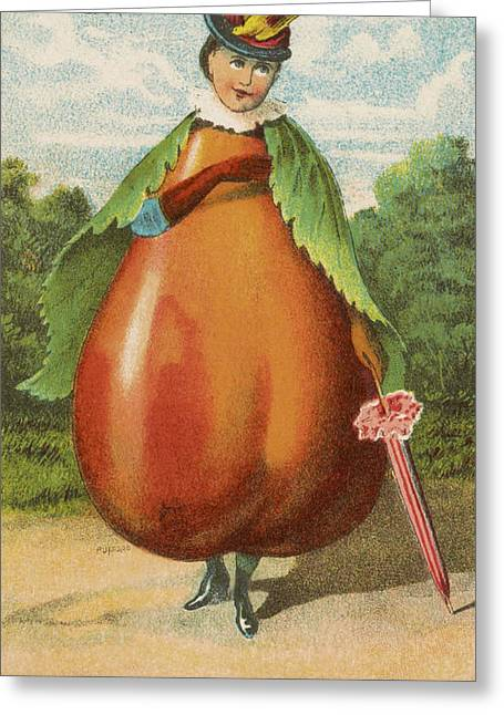 Historic Drawings Greeting Cards - How do I a pear Greeting Card by Aged Pixel