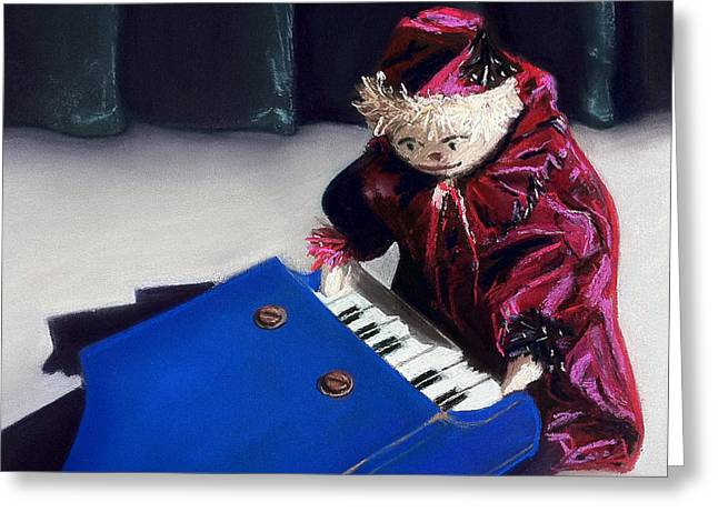 Puppet Greeting Cards - How Do You Get To Carnegie Hall? Greeting Card by Cristine Kossow