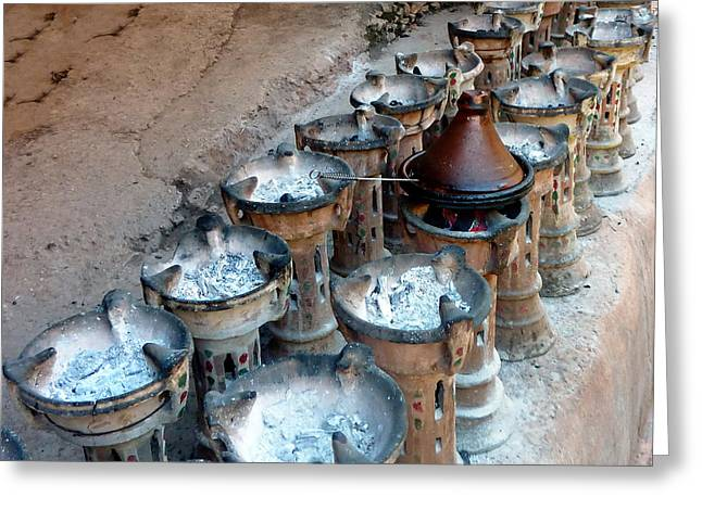 Stew Greeting Cards - How do you like your Tajine Greeting Card by A Rey
