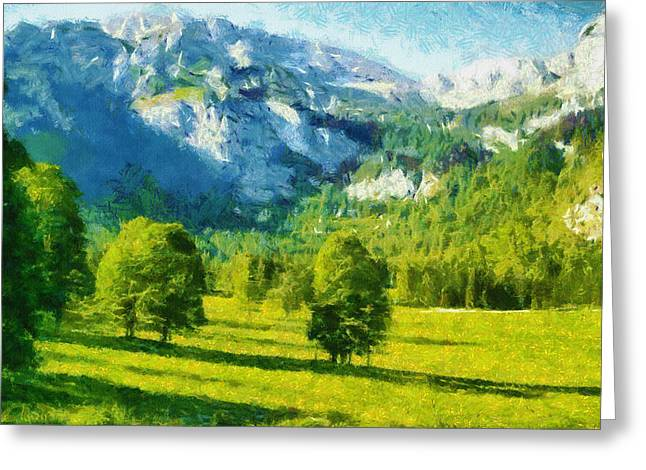 How Green Was My Valley Greeting Card by Ayse Deniz