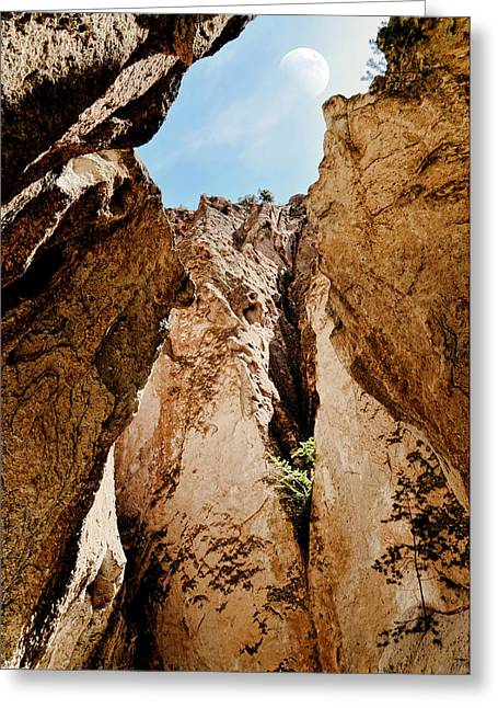 Jemez Mountains Greeting Cards - How High Greeting Card by Diana Angstadt