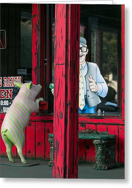 Store Fronts Greeting Cards - How Much is That . . . Greeting Card by E Faithe Lester
