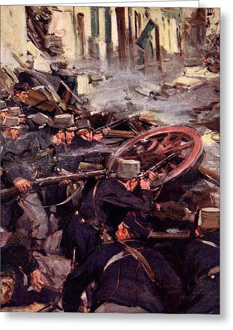 Overturn Greeting Cards - How the Brave Belgians Held up the German Advance Greeting Card by Cyrus Cuneo
