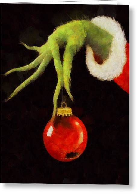 Evil Mixed Media Greeting Cards - How The Grinch Stole Christmas Greeting Card by Dan Sproul
