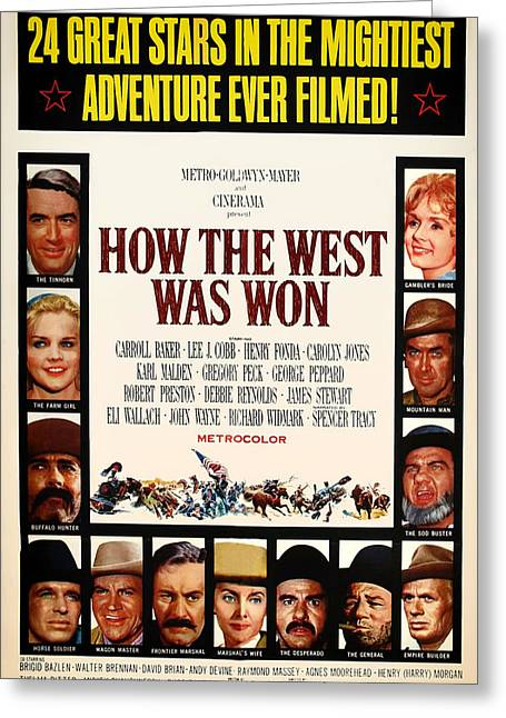 Henry Mixed Media Greeting Cards - How The West Was Won Movie Poster 1962 Greeting Card by Mountain Dreams