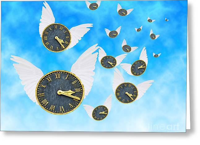 Clock Photographs Greeting Cards - How Time Flies Greeting Card by Juli Scalzi