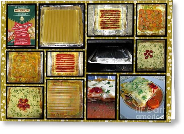 How To Make Your Own Vegan Lasagne Greeting Card by Ausra Huntington nee Paulauskaite