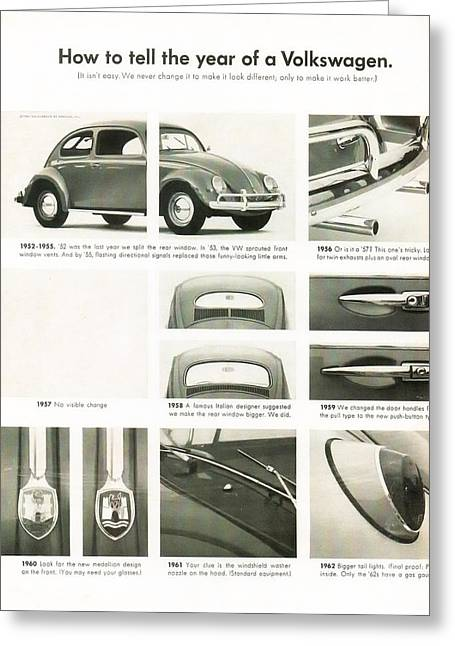 Told Greeting Cards - How to tell the year of a Volkswagen Greeting Card by Nomad Art And  Design