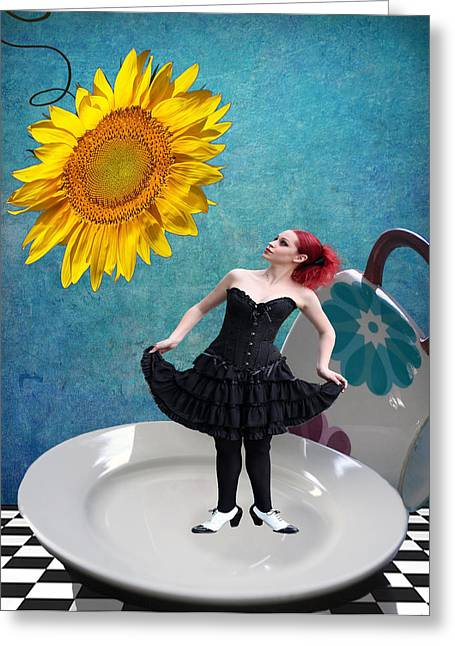 Tea Party Greeting Cards - How Very Peculiar Greeting Card by Juli Scalzi