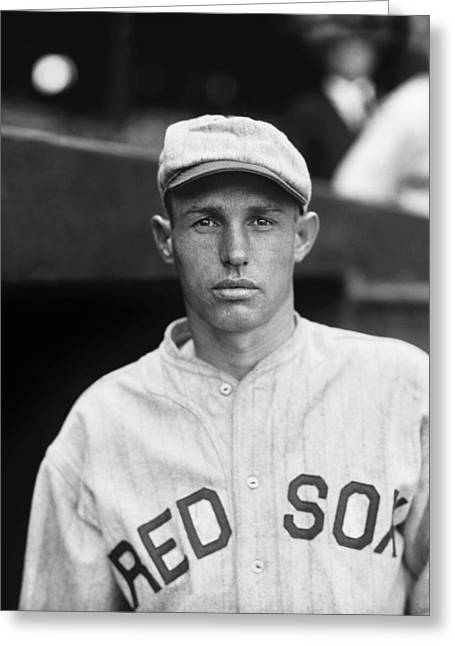 Boston Red Sox Greeting Cards - Howard C. Howie Fitzgerald Greeting Card by Retro Images Archive