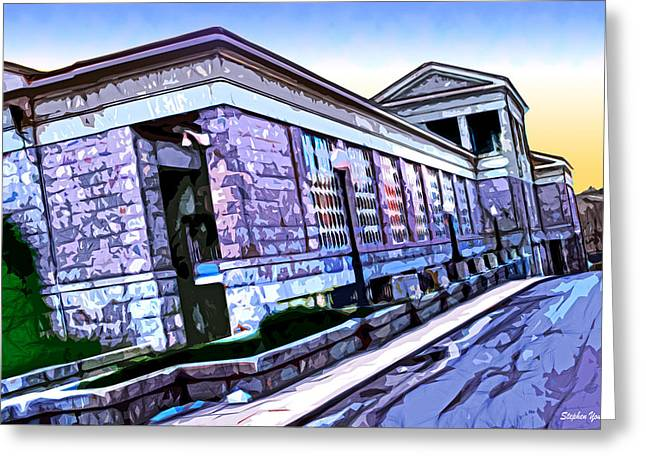 Divorce Greeting Cards - Howard County Courthouse Greeting Card by Stephen Younts