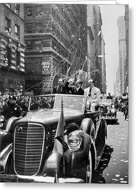 Ticker Tape Parade Greeting Cards - Howard Hughes (1905-1976) Greeting Card by Granger