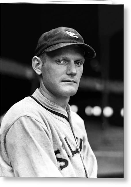 American League Photographs Greeting Cards - Howard R. Lefty Mills Greeting Card by Retro Images Archive