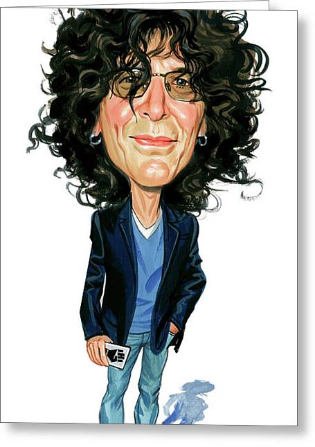 Caricatures Greeting Cards - Howard Stern Greeting Card by Art