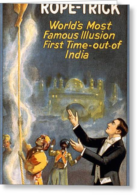 Magic Show Greeting Cards - Howard Thurston, American Magician Greeting Card by Photo Researchers