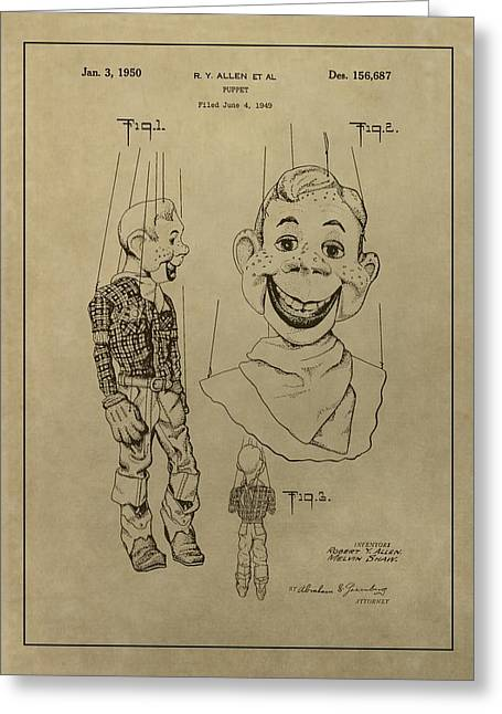 Old Tv Drawings Greeting Cards - Howdy Doody Greeting Card by Dan Sproul