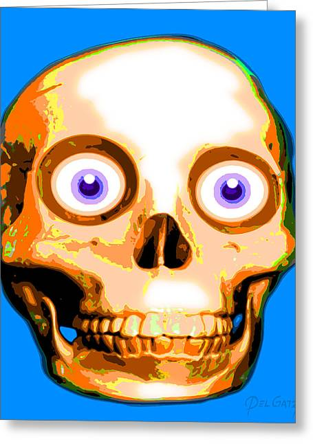 Creepy Digital Greeting Cards - Howdy Headbone Greeting Card by Del Gaizo