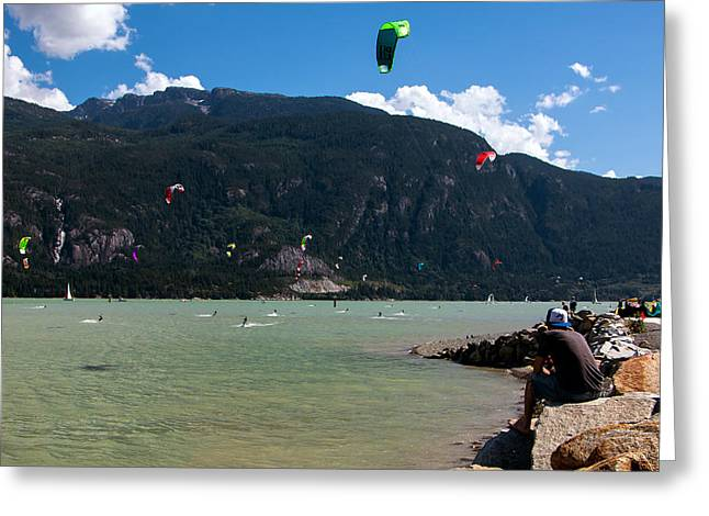 Kiteboarding Greeting Cards - Howe Fun Greeting Card by Michael Thornquist