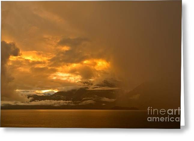 Howe Greeting Cards - Howe Sound Fiery Sunset Greeting Card by Adam Jewell