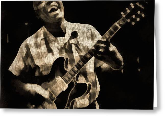 Live Music Mixed Media Greeting Cards - Howlin Wolf Greeting Card by Dan Sproul