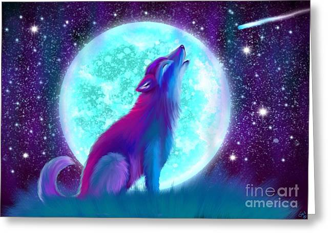 Howl Greeting Cards - Howling Again Greeting Card by Nick Gustafson