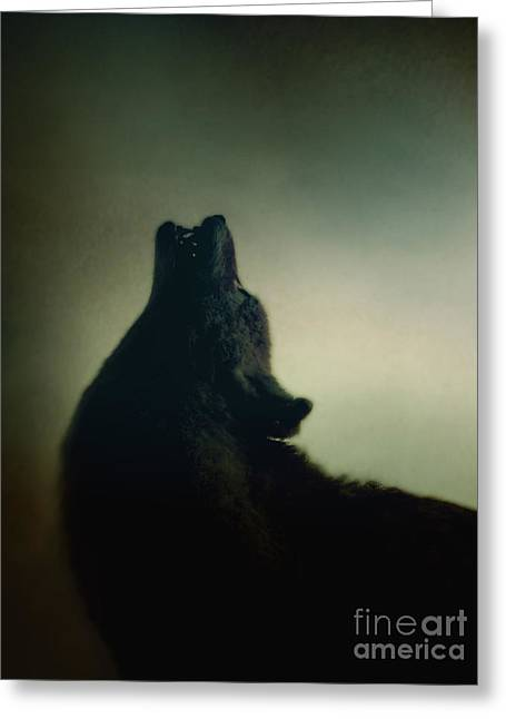Wolf Face Greeting Cards - Howling Greeting Card by Margie Hurwich