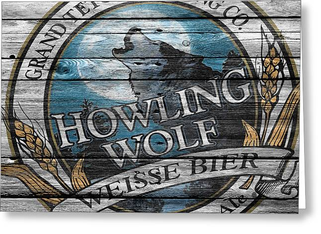 Howling Greeting Cards - Howling Wolf Greeting Card by Joe Hamilton