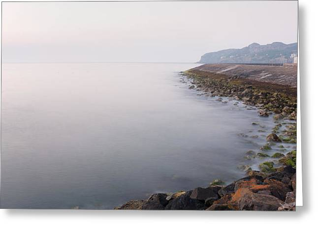 Peaceful Scene Greeting Cards - Howth East Pier on a Misty Morning Greeting Card by Semmick Photo