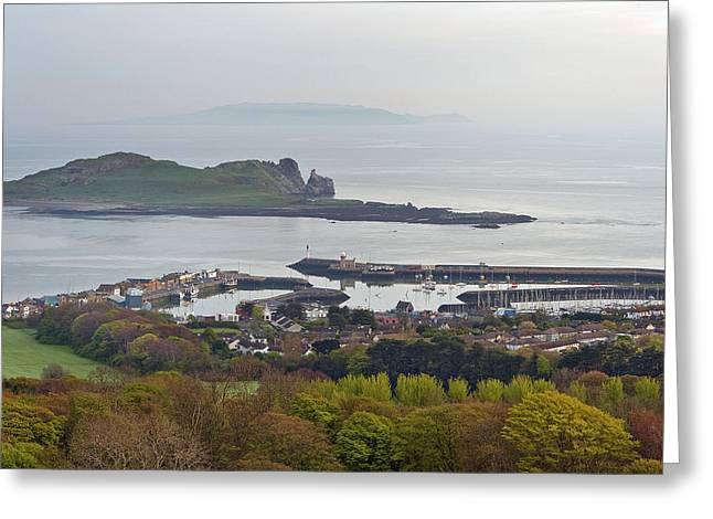Fishing Boats Greeting Cards - Howth Harbour Greeting Card by Thomas Glover
