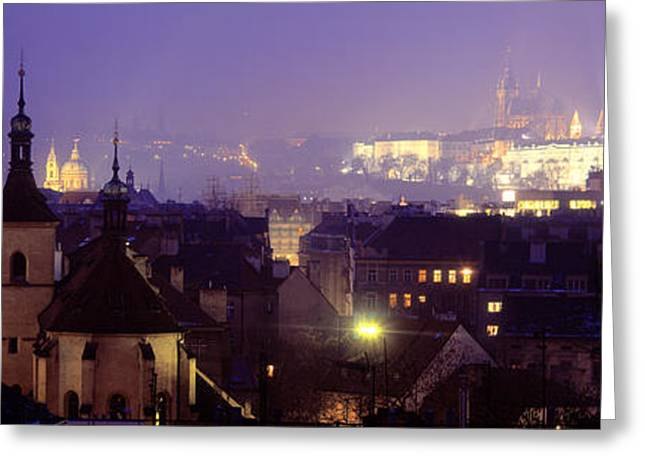 Hradcany Castle, Prague, Czech Republic Greeting Card by Panoramic Images