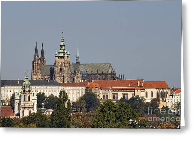 1300s Greeting Cards - Hradcany - Cathedral of St Vitus on the Prague castle Greeting Card by Michal Boubin
