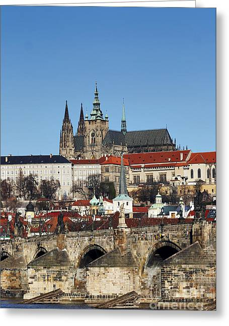 Valuable Photographs Greeting Cards - Hradcany - Prague castle Greeting Card by Michal Boubin