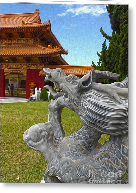 Hsi Lai Temple - 03 Greeting Card by Gregory Dyer