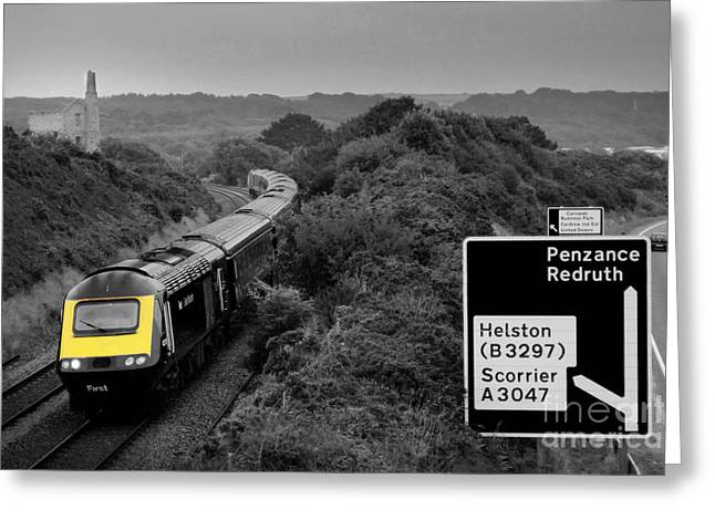 Hst Greeting Cards - HSt at Scorrier  Greeting Card by Rob Hawkins