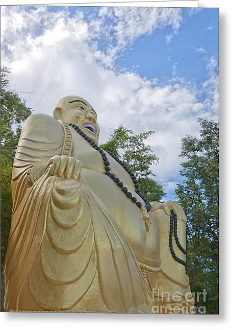 Huahin Greeting Cards - Hua Hin Sitting Buddha 02 Greeting Card by Antony McAulay