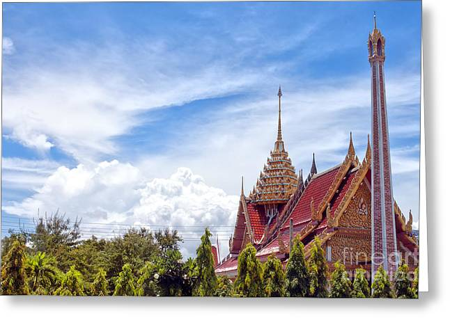 Religious Greeting Cards - Hua Hin Temple 44 Greeting Card by Antony McAulay