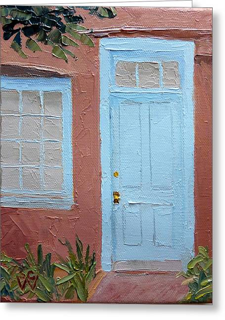 Hubbell Home Doorway Greeting Card by Susan Woodward