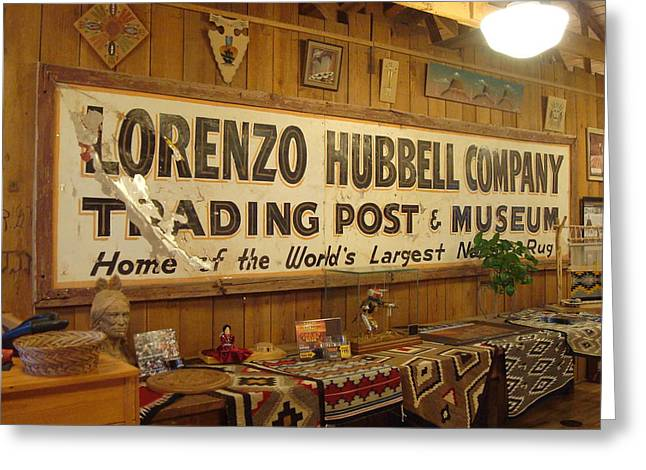 Hubbell Trading Post Greeting Card by Susan Woodward