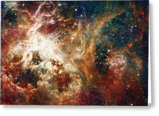 Office Space Digital Art Greeting Cards - Hubble - Turbulent Star-Making Region Greeting Card by Paulette B Wright