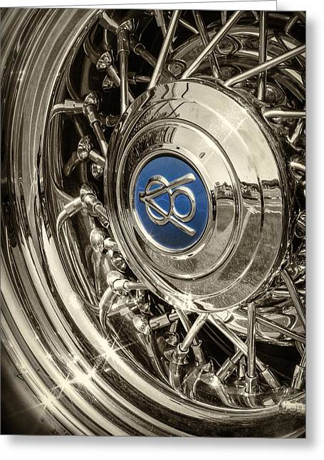 Hubcap Greeting Cards - Hubcap Deluxe Greeting Card by Caitlyn  Grasso