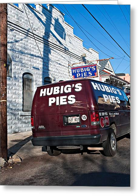 Food Delivery Greeting Cards - Hubigs Pies Greeting Card by Steve Harrington