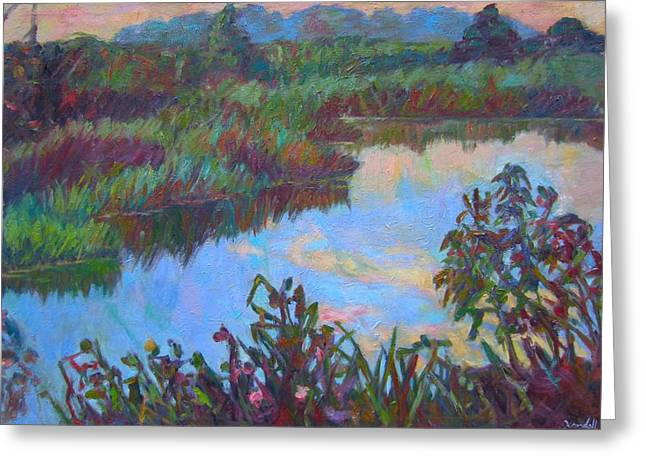 Huckleberry Line Trail Rain Pond Greeting Card by Kendall Kessler