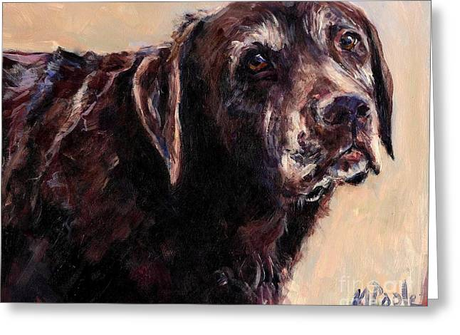 Senior Dog Greeting Cards - Hudler Greeting Card by Molly Poole